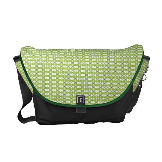 Green Argyle Messenger Bag