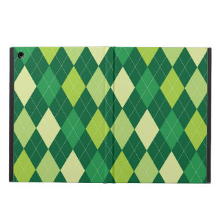 Green argyle pattern case for iPad air