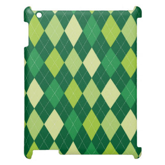 Green argyle pattern cover for the iPad