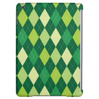 Green argyle pattern iPad air cases