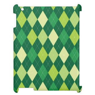 Green argyle pattern iPad covers