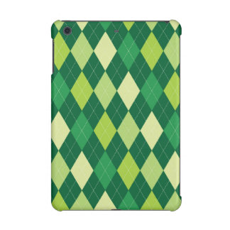 Green argyle pattern iPad mini case