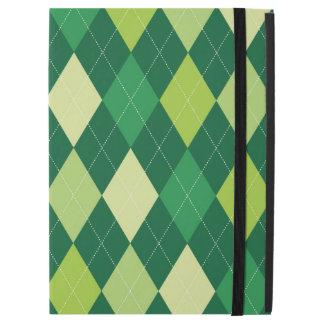 """Green argyle pattern iPad pro 12.9"""" case"""