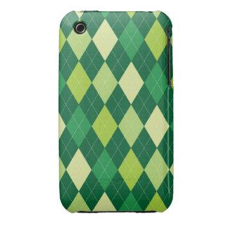Green argyle pattern iPhone 3 Case-Mate case