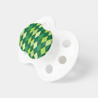 Green argyle pattern pacifier