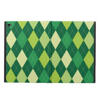 Green argyle pattern powis iPad air 2 case