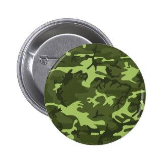 Green army camouflage design 2 inch round button