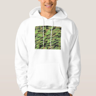 Green Army Camouflage Textured Hoodie