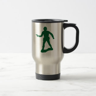 Green Army Man Travel Mug