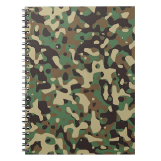 Green Army Print Notebooks