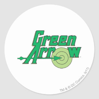 Green Arrow Logo Classic Round Sticker