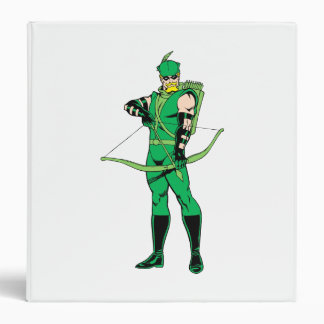 Green Arrow Standing with Bow Vinyl Binder
