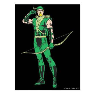Green Arrow with Target Postcard