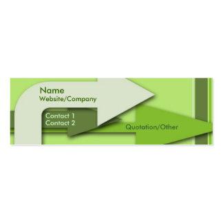 Green Arrows Business Card