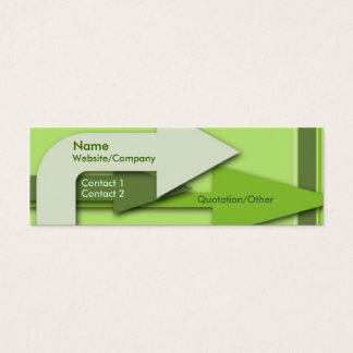 Green Arrows Mini Business Card