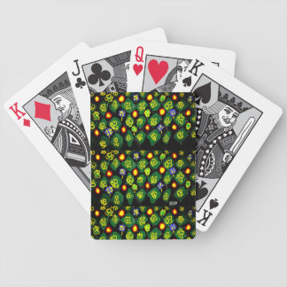 Green art bicycle playing cards
