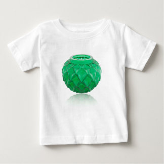 Green Art Deco carved glass vase. Baby T-Shirt