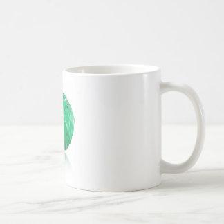 Green Art Deco carved glass vase. Coffee Mug