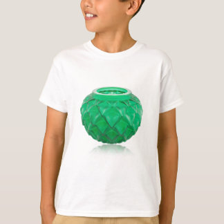 Green Art Deco carved glass vase. T-Shirt