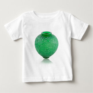 Green Art Deco glass vase depicting leaves. Baby T-Shirt