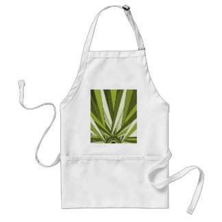 Green Art Deco Sunrise Design Standard Apron