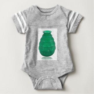 Green Art Glass Vase Baby Bodysuit