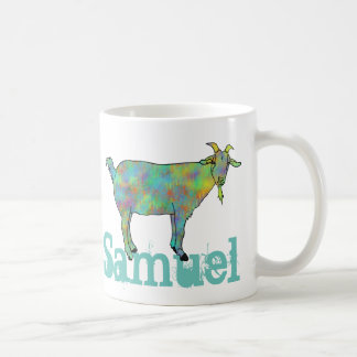 Green Art Goat on Things Design with your Name Coffee Mug