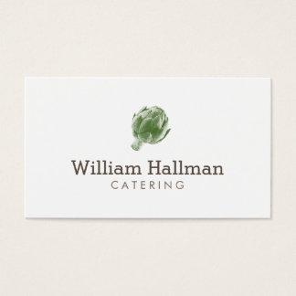 Green Artichoke Logo Catering/Chef Business Card