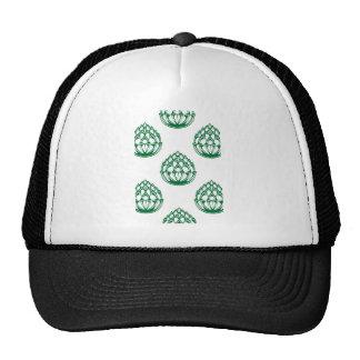 Green Artichoke Pattern Trucker Hat