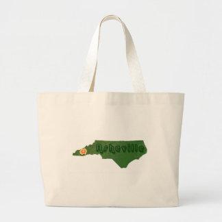 Green Asheville Large Tote Bag
