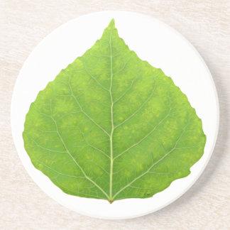 Green Aspen Leaf #11 Coaster
