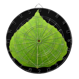 Green Aspen Leaf #11 Dartboard