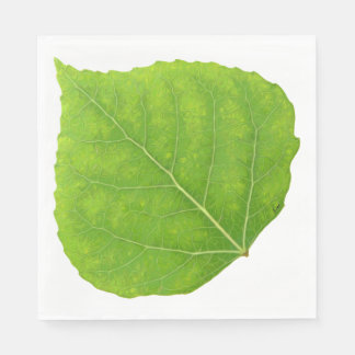 Green Aspen Leaf #11 Disposable Napkins