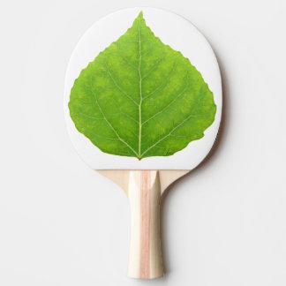 Green Aspen Leaf #11 Ping Pong Paddle