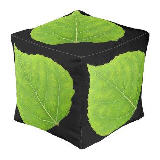 Green Aspen Leaf #11 Pouf