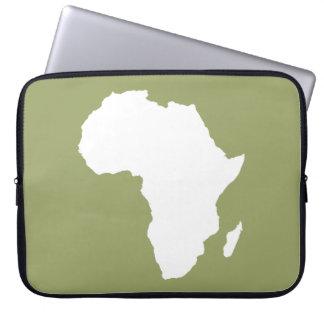 Green Audacious Africa Laptop Sleeve