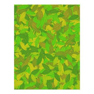 Green autumn letterhead