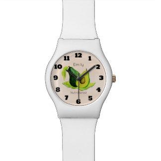 Green Avocado Still Life Fruit in Watercolors Watch