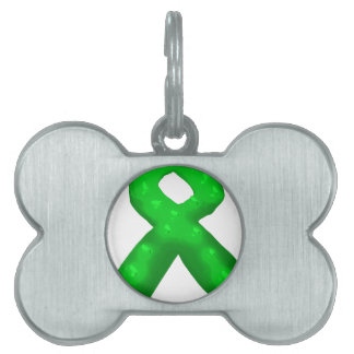Green Awareness Ribbon Candle Pet Tag