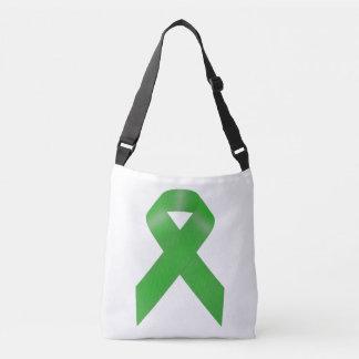 Green Awareness Ribbon Crossbody Bag