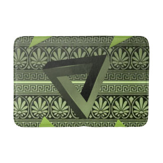 green aztec bathroom bathmat