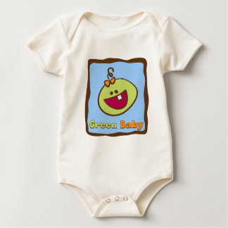 Green Baby: A Silly & Sweet Organic Baby Bodysuit