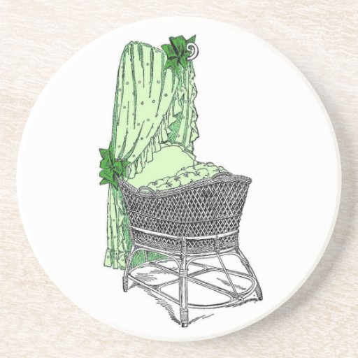 Green Baby Bassinet Coaster