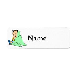 Green baby blankie return address label