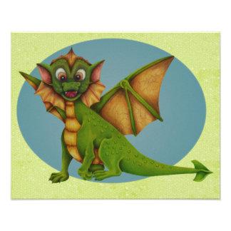 Green Baby Dragon Photo Print