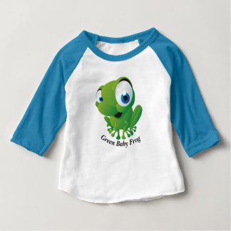 Green Baby Frog Apparel Sleeve Raglan T-Shirt