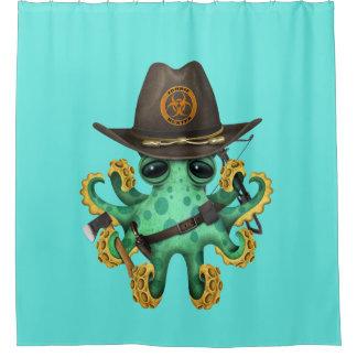 Green Baby Octopus Zombie Hunter