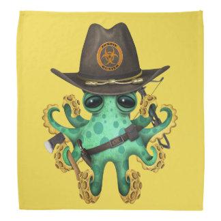 Green Baby Octopus Zombie Hunter Bandana