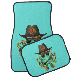 Green Baby Octopus Zombie Hunter Car Mat