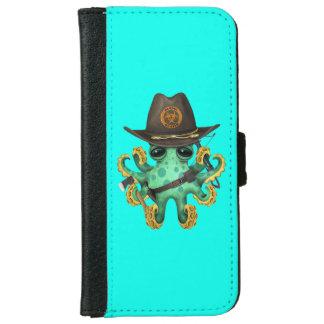 Green Baby Octopus Zombie Hunter iPhone 6 Wallet Case